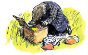 Mole and picnic basket